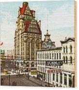 Milwaukee's Wisconsin Street 1899 Wood Print