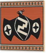Mimbres Tribal Bat Spirit Wood Print