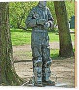 Mime In A Park In Tallinn-estonia Wood Print