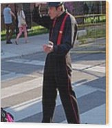 Mime Performer On The Street Wood Print