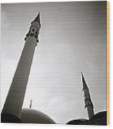Minarets At Dusk Wood Print