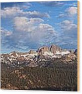 Minarets Of California Wood Print