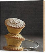 Mince Pie Stack Wood Print