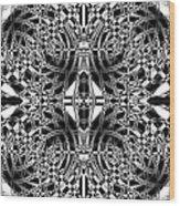B W Sq 10 Wood Print