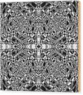 B W Sq 5 Wood Print