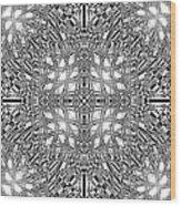 B W Sq 9 Wood Print