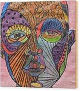 Mind Warp Wood Print
