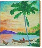 Mindanao Sunset Wood Print