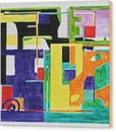 Mindscape II Wood Print