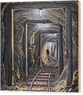 Mine Shaft Mural Wood Print