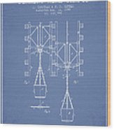 Mine Shaft Safety Device Patent From 1899 - Light Blue Wood Print