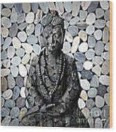 Mineral Buddha Wood Print