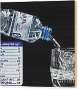 Mineral Water And Its Mineral Content Wood Print