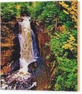 Miner's Falls Wood Print