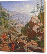 Miners In The Sierras Wood Print
