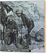 Miners Prospecting Wood Print