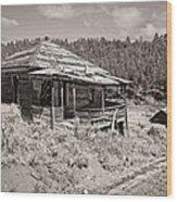 Miner's Shack - Comet Ghost Mine - Montana Wood Print