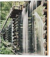 Mingus Mill Millrace Wood Print