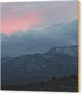 Mingus Mountain Sunset Dec 08 2013 D Wood Print