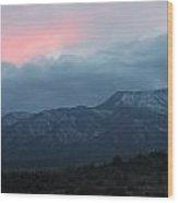 Mingus Mountain Sunset Dec 08 2013 E Wood Print