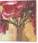 Mini Carnation Bouquet Wood Print