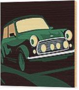 Mini Cooper Green Wood Print