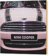 Mini Cooper Wood Print