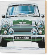 Mini Cooper On Ice Wood Print