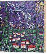 Mini Starry Night Wood Print