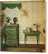 Miniature Hat Room Wood Print