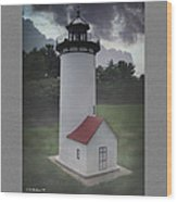 Miniature Lighthouse Wood Print