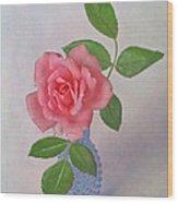 Miniature Rose IIi Wood Print