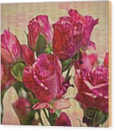 Miniature Roses Wood Print