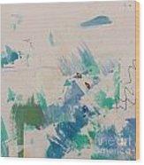 Minimal Blue Wood Print