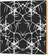 Minimal Life Vortex Wood Print