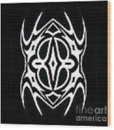 Minimalism Black White Ornament Art No.289. Wood Print