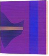 Minimalism Purple Wood Print