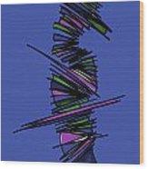 Minimalist 2 Blue Wood Print