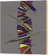 Minimalist 2 Grey Wood Print