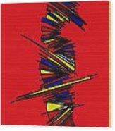 Minimalist 2 Red Wood Print