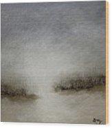 Minimalist Abstract Landscape Original Painting Wood Print