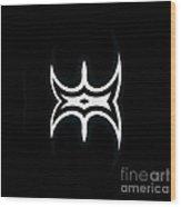 Minimalism Black White Abstract Art No.183. Wood Print