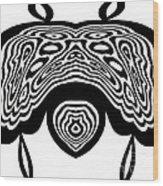 Minimalist Art Black White Abstract No.331. Wood Print