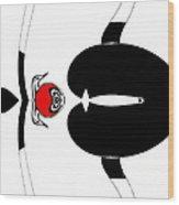 Minimalism Black White Red Art No.176. Wood Print