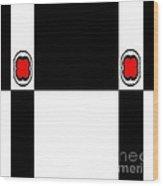 Minimalism Geometric Art Black White Red Abstract No.172. Wood Print
