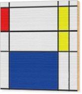 Minimalist Mondrian Wood Print