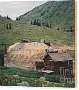 Mining In Anamas Forks Wood Print