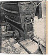 Mining Ore Cart Wood Print