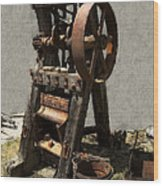 Mining Portable Stamp Mill Wood Print by Daniel Hagerman