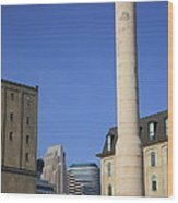 Minneapolis Smokestack Wood Print